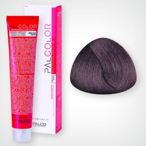 Крем-краска для волос PALCO 4,8 средне-коричневый кофейный 100 мл